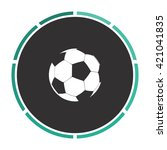 soccer ball simple flat white...