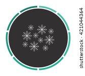 snowflakes simple flat white...