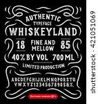 hand made display typeface ... | Shutterstock .eps vector #421051069
