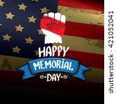 happy memorial day vector... | Shutterstock .eps vector #421052041