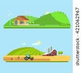 set vector illustration eco... | Shutterstock .eps vector #421062967