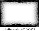 grunge border frame. distressed ... | Shutterstock .eps vector #421065619