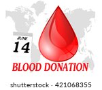 world blood donation day.vector | Shutterstock .eps vector #421068355