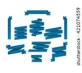 flat ribbons set | Shutterstock .eps vector #421074559
