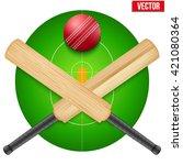 vector illustration of cricket... | Shutterstock .eps vector #421080364