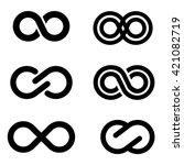 vector black infinity icons set ...   Shutterstock .eps vector #421082719