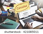 canceled appointment planner... | Shutterstock . vector #421085011