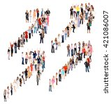 many colleagues workforce... | Shutterstock . vector #421086007