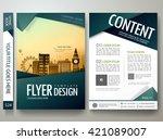 flyers design template vector.... | Shutterstock .eps vector #421089007