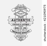 vintage western antique frame... | Shutterstock .eps vector #421090975