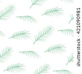 green palm leaves seamless... | Shutterstock .eps vector #421090981