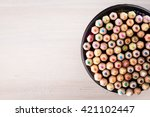 Set Of Color Pencils In A Blac...