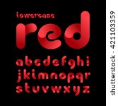rounded font. vector alphabet... | Shutterstock .eps vector #421103359