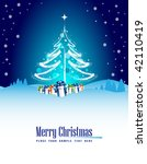 christmas background with place ...   Shutterstock .eps vector #42110419