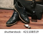 collection of man's business... | Shutterstock . vector #421108519