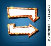 electric bulbs billboard. retro ... | Shutterstock .eps vector #421112929