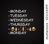 weekdays   funny inscription... | Shutterstock .eps vector #421114399