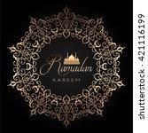 elegant ramadan background with ... | Shutterstock .eps vector #421116199