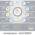 vector infographic design white ... | Shutterstock .eps vector #421120825