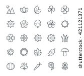 nature cool vector icons 3 | Shutterstock .eps vector #421121371