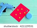 hot glue gun. a cap from a... | Shutterstock . vector #421129531