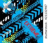 abstract seamless  grunge ... | Shutterstock .eps vector #421132987