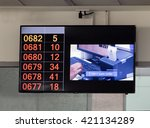 monitor with instructions and... | Shutterstock . vector #421134289