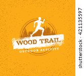 outdoor adventure trail... | Shutterstock .eps vector #421135597