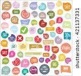 modern badges collection | Shutterstock .eps vector #421137331