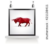 Angry Bull With Frame Background