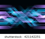 vector digital technology... | Shutterstock .eps vector #421142251