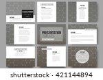 set of 9 vector templates for...   Shutterstock .eps vector #421144894