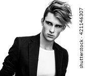 elegant stylish handsome man.... | Shutterstock . vector #421146307