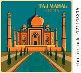 Vintage Poster Of Taj Mahal In...