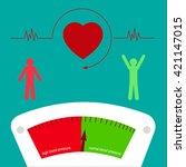 blood pressure. vector... | Shutterstock .eps vector #421147015