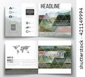 vector set of square design... | Shutterstock .eps vector #421149994