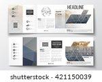 vector set of tri fold... | Shutterstock .eps vector #421150039