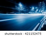 blurred traffic in the... | Shutterstock . vector #421152475