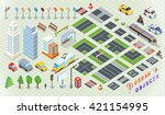 isometric part of the city... | Shutterstock . vector #421154995