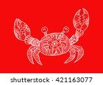 crab. zentangle style. | Shutterstock .eps vector #421163077