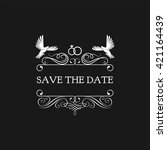 wedding invitation. save the... | Shutterstock .eps vector #421164439