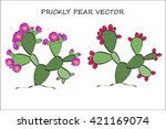 prickly pear vector. prickly... | Shutterstock .eps vector #421169074