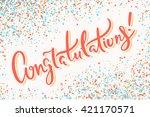 congratulations banner. | Shutterstock .eps vector #421170571