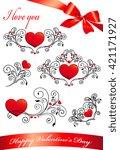 love hearts    Shutterstock .eps vector #421171927