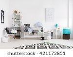bright baby room filled with... | Shutterstock . vector #421172851