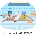 illustration featuring a sink... | Shutterstock .eps vector #421173025