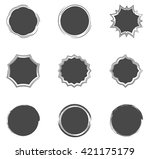 collection of filled circles... | Shutterstock .eps vector #421175179