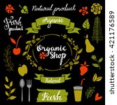 organic food  natural product... | Shutterstock .eps vector #421176589