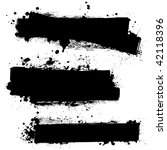 three ink splat banners with... | Shutterstock . vector #42118396