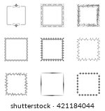 collection of decorative frames  | Shutterstock .eps vector #421184044